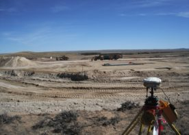 landscape view of construction of paradise substation in sublette county, wyoming