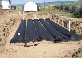 constructing red creek school septic system & leach field engineering