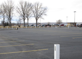 Casper/Natrona County International Airport new parking lot after construction. WLC provided civil engineering design for the project.