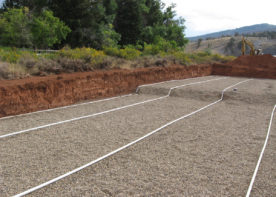 piping design for septic leachfield for Speas Fish Hatchery Septic System Design
