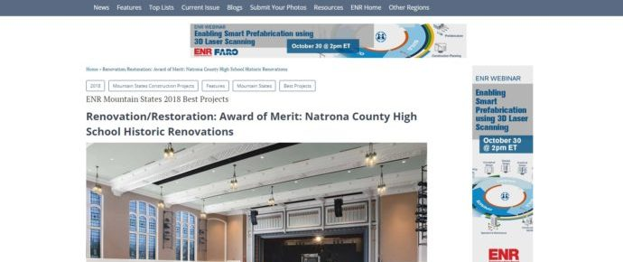 WLC Engineering & Surveying and Team Receive Award of Merit for NCHS Renovations