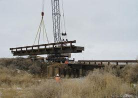 placing new bitter creek bridge