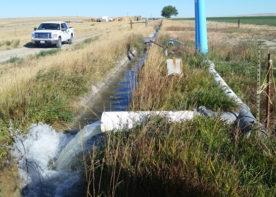 irrigation water retention channel