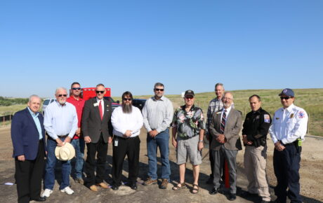 Evansville Secondary Access Road Ribbon Cutting Held to Open New Route